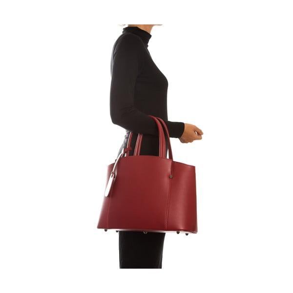 Červená kožená kabelka Sofia Cardoni Irene