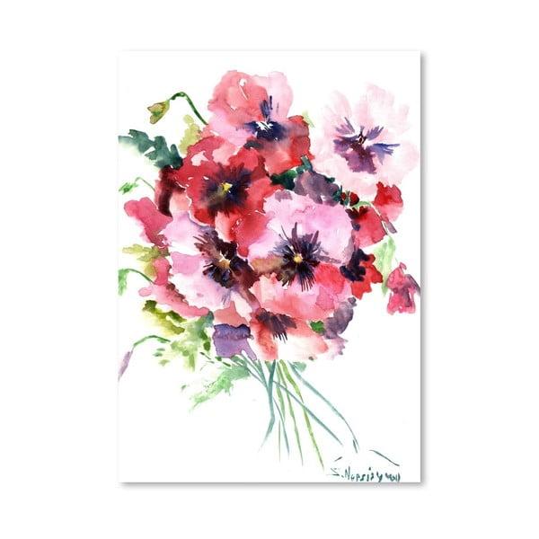 Plagát Pink Pansies od Suren Nersisyan