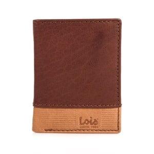 Kožená peňaženka Lois Brownie, 8,5x10,5 cm