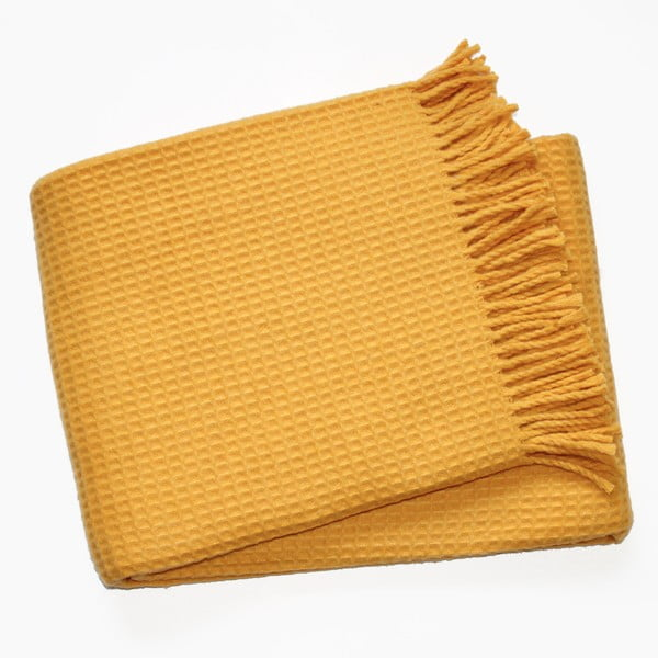 Deka Waffel Saffron Yellow, 140x180cm