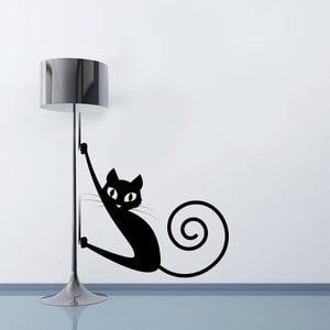 Dekoratívna samolepka na stenu Mačička