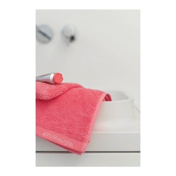 Ružový uterák z egyptskej bavlny Aquanova London, 30 × 50 cm