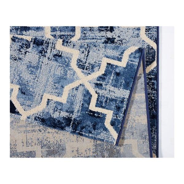 Modrý koberec Schöngeist & Petersen Diamond, 133 x 195 cm