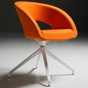 Oranžová kancelárska stolička Zago Que Five