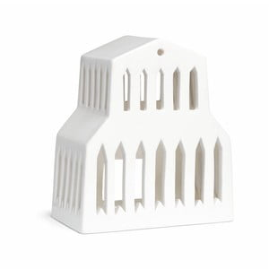 Biely keramický svietnik Kähler Design Urbania Lighthouse Basilica