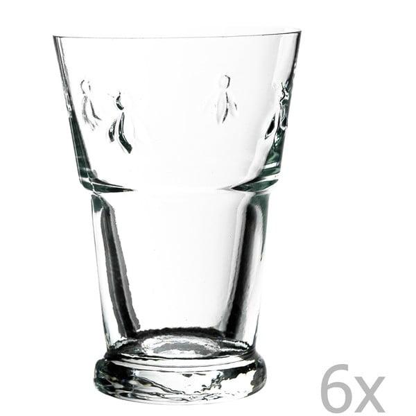 Sada 6 pohárov Abeille, 400 ml
