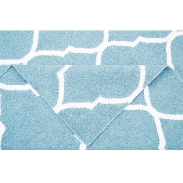 Svetlomodrý vlnený koberec Bakero Caroline, 120 x 80 cm
