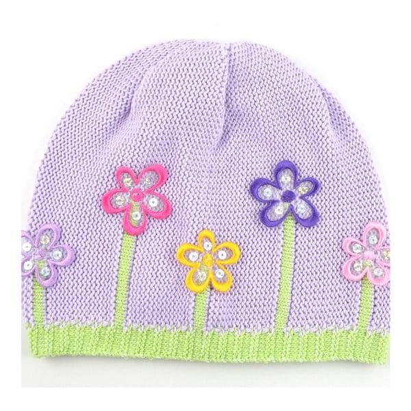 Dievčenská čapica Lacka, svetlofialová