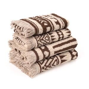 Sada 4 bavlnených uterákov CasaDiBassi Rabat