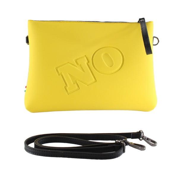 Neoprénová listová kabelka Yes/No, žlté