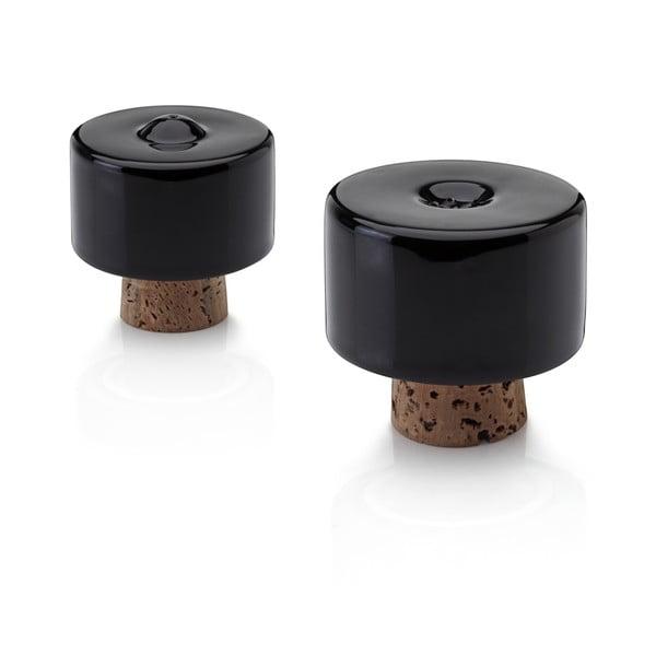 Soľnička a korenička Shakers Black