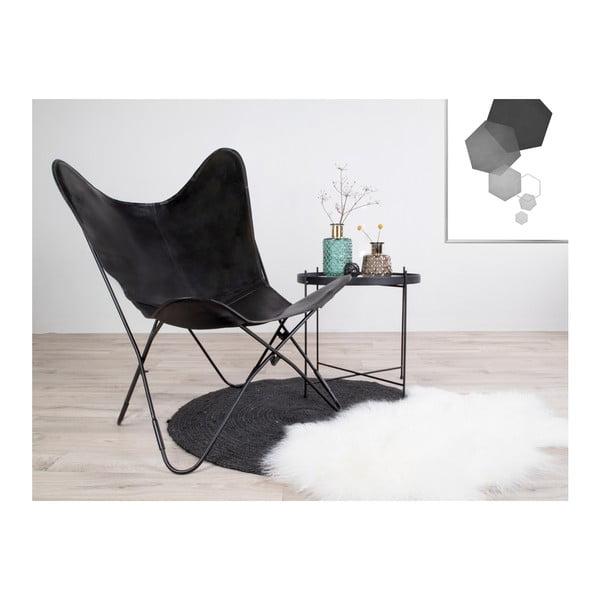 Čierna kožená stolička House Nordic Colombo