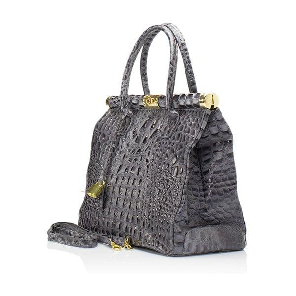 Sivá kožená kabelka Lisa Minardi Lantha