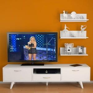 Televízny stolík Milas White