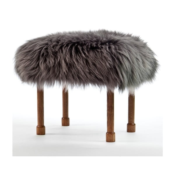 Stolička z ovčej kože Myfanwy Slate Grey