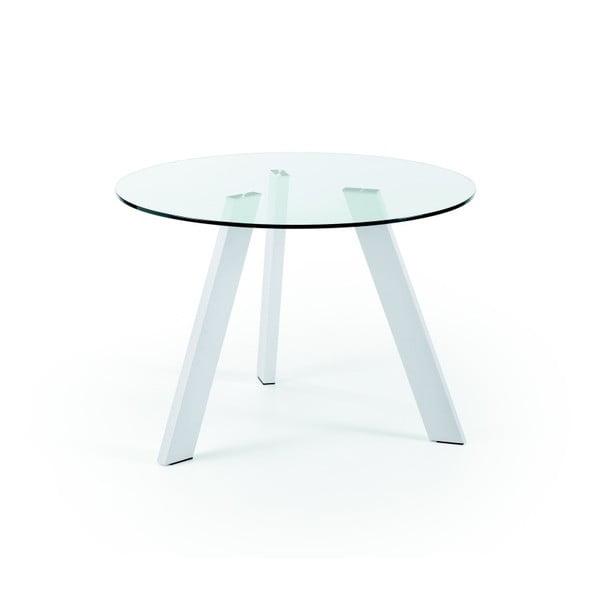 Jedálenský stôl s bielymi nohami La Forma Columbia, priemer 110cm