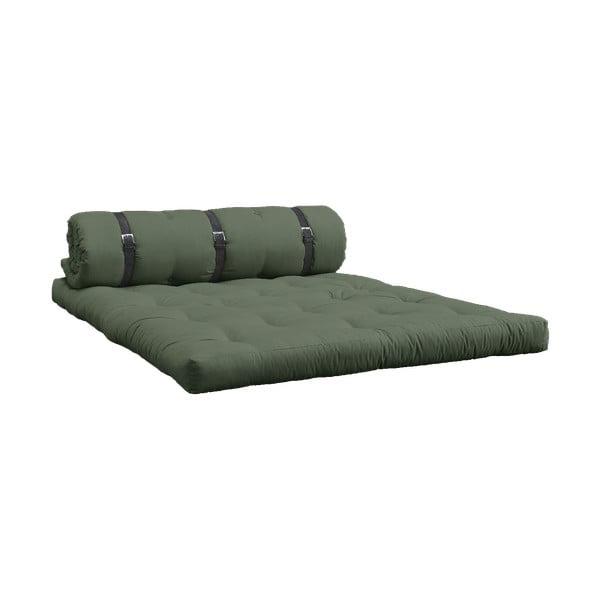Rozkladacia pohovka so zeleným poťahom Karup Design Buckle Up Olive Green
