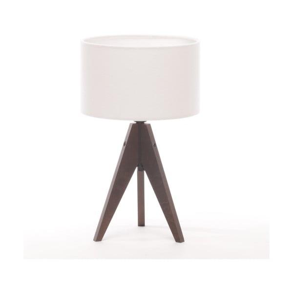 Stolná lampa Arist Cylinder White/Brown