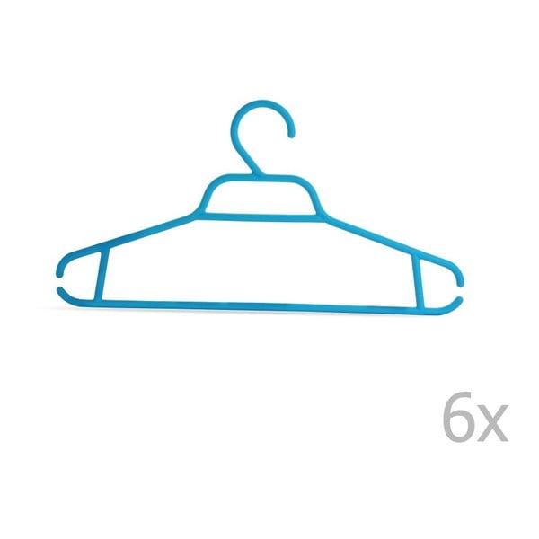 Plastový vešiak Bonita NOVA Blue, 6ks