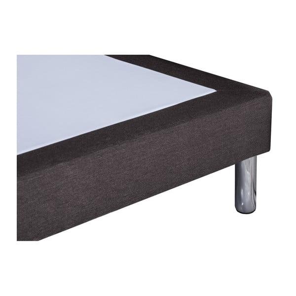 Tmavosivá posteľ typu boxspring Stella Cadente Maison, 160 × 200 cm