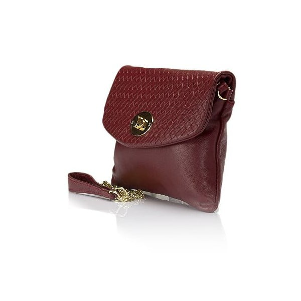 Červená kožená kabelka Giulia Massari Medea