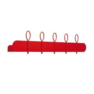 Červený nástenný vešiak so 4 háčikmi a poličkou MEME Design Balloon