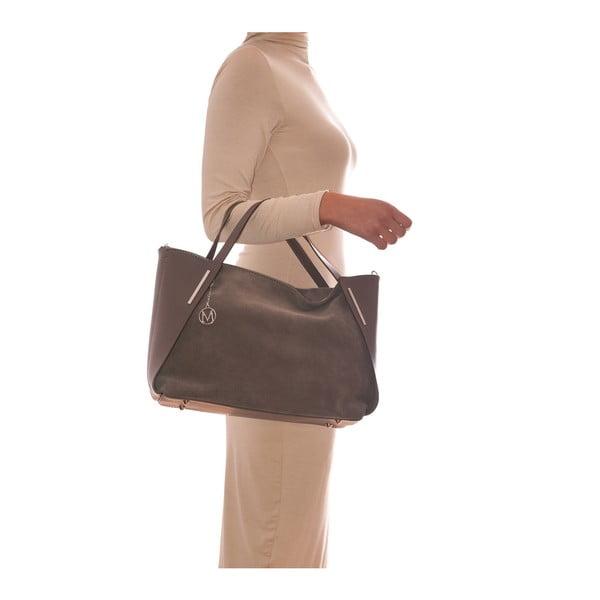 Kožená kabelka Mangotti 878 Fango