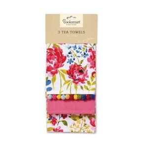 Sada 3 utierok Cooksmart England Floral Romance