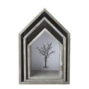 Sada 3 závesných políc Bookcase, 25x35 cm
