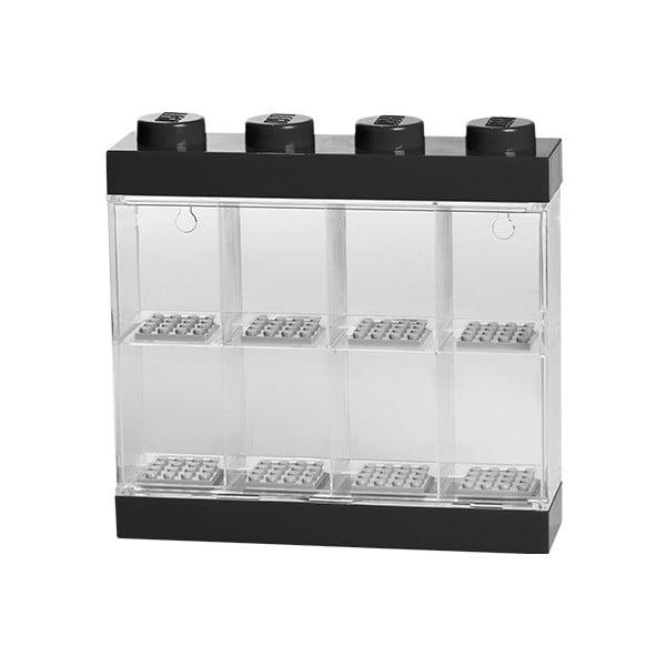 Zberateľská skrinka na 8 minifigúrok LEGO, černá