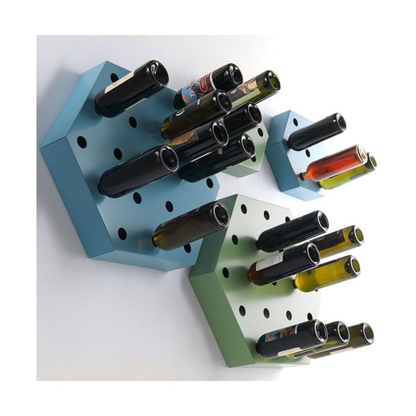 Stojan na víno Hexagon Maxi, biely