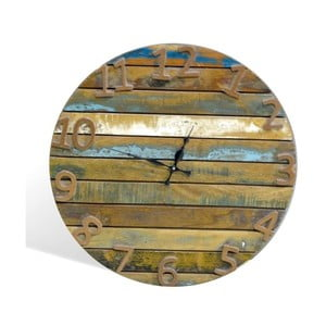 Hodiny z masívneho dreva SOB Colour