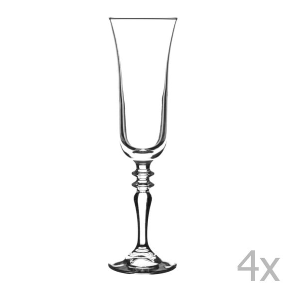 Sada 4 pohárov na víno Avalon, 220 ml
