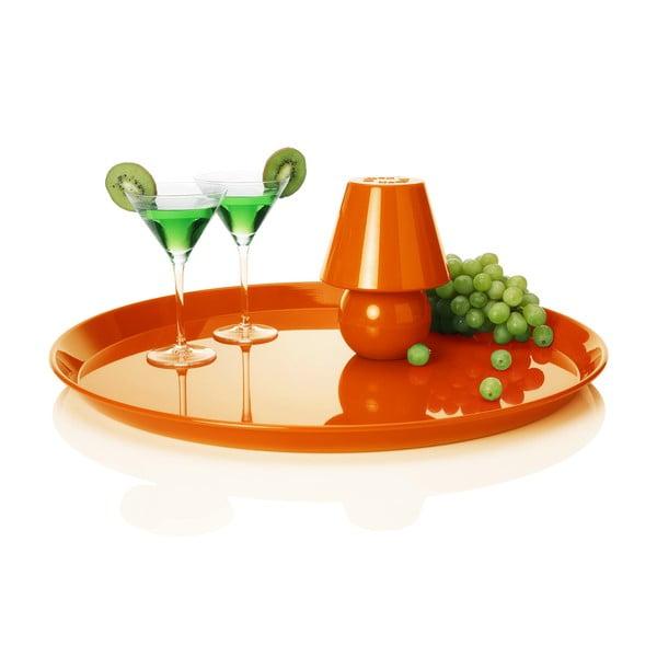 Stolná lampa s podnosom Fatboy Snacklight Orange