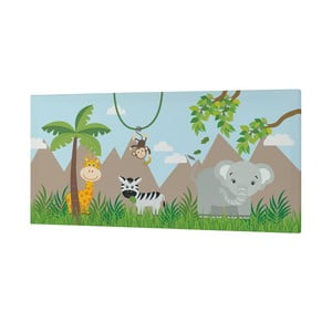 Obraz Little W Jungle, 27 × 54 cm