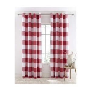 Sada 2 červeno-bielych závesov Catherine Lansfield Boston, 168×183 cm