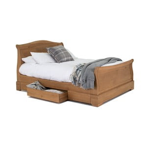Dvojlôžková posteľ z dubového dreva VIDA Living Carmen, 180 x 200 cm