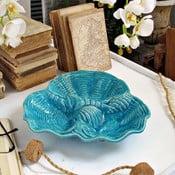 Servírovací tanier Venice Turquoise, 31x28x6 cm