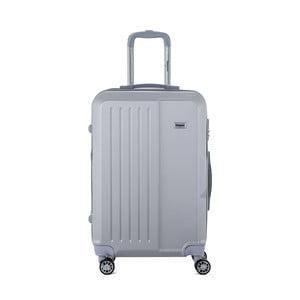Svetlosivý cestovný kufor na kolieskách s kódovým zámkom SINEQUANONE Chandler, 71 l
