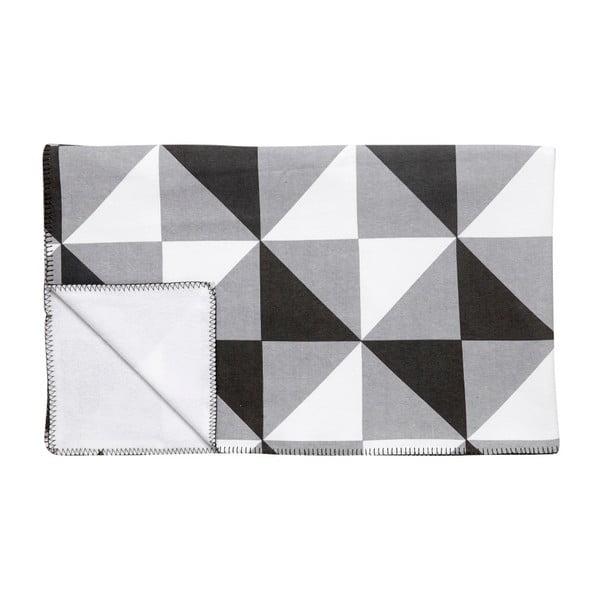 Čierno-biela deka Hübsch Laya