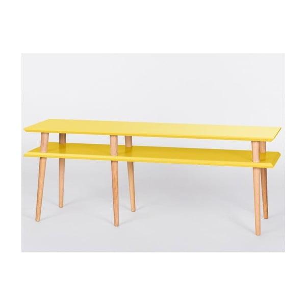 Žltý konferenčný stolík Ragaba Mugo,dĺžka139 cm