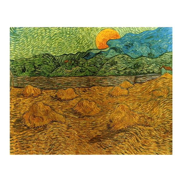 Obraz Vincenta van Gogha - Evening landscape with rising moon, 50x40 cm