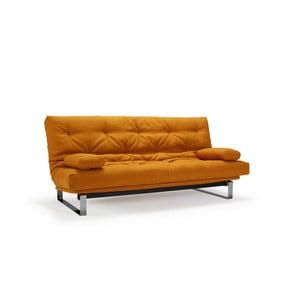 Oranžová rozkladacia pohovka Innovation Minimum Elegant Elegance Burned Curry