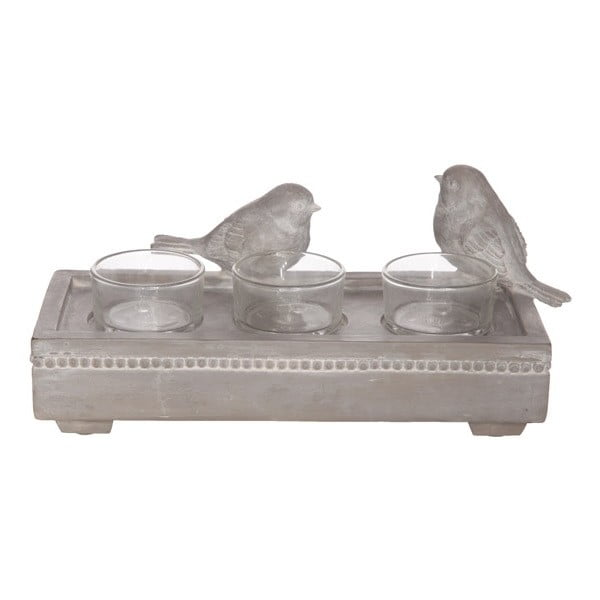 Svietnik na tri čajové sviečky Birds