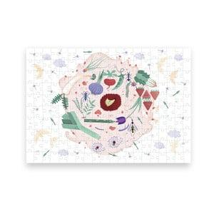 Puzzle z recyklovaných materiálov Pucle Jarná záhrada ,200 dielikov