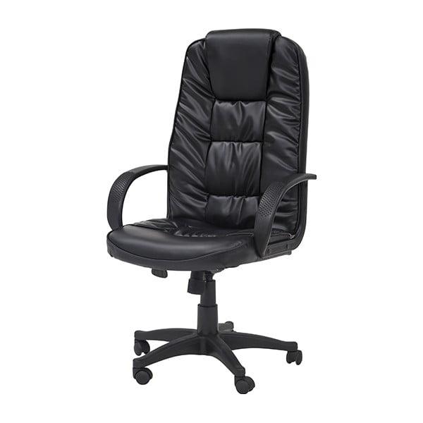 Pracovná stolička na kolieskach Pres, čierna