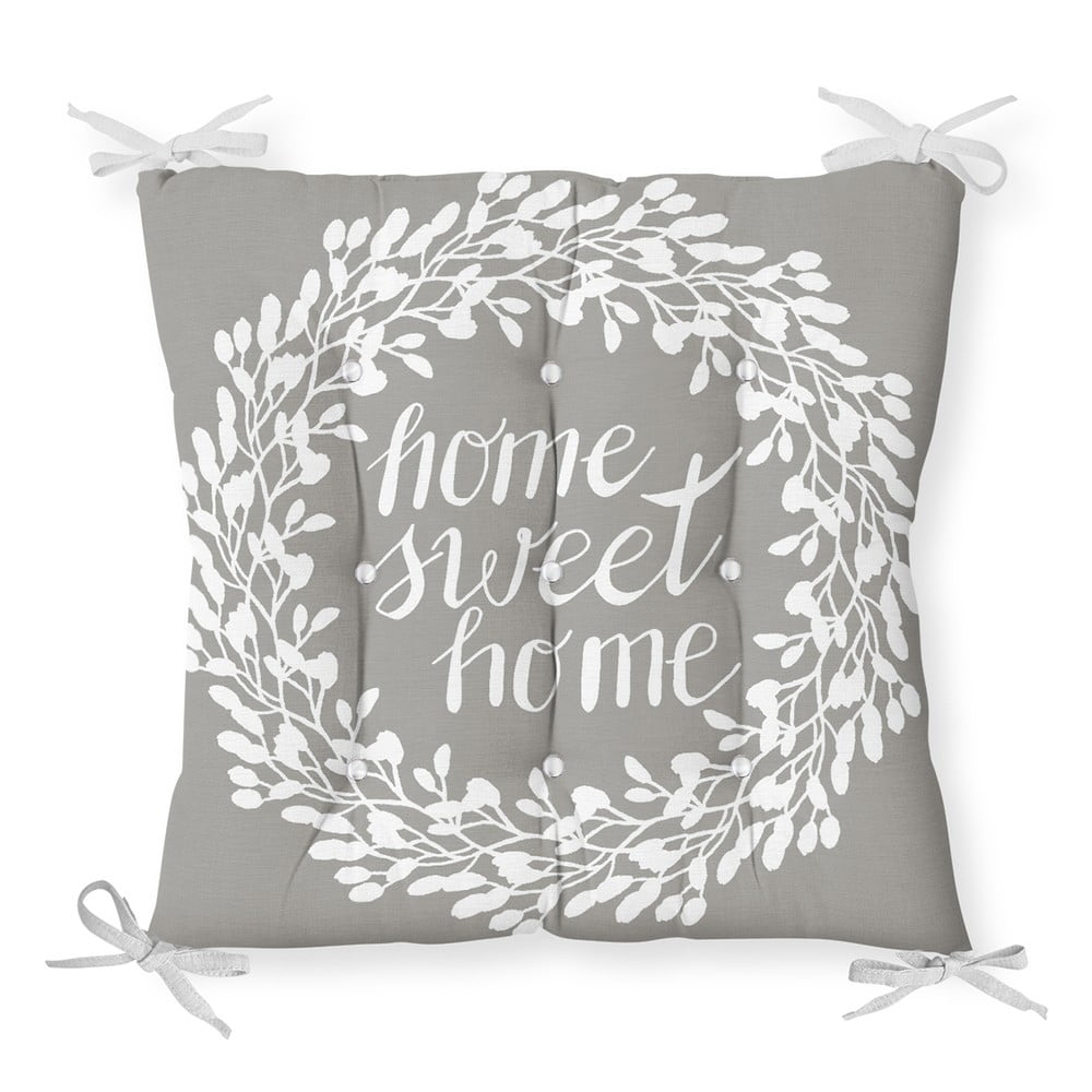 Sedák na stoličku Minimalist Cushion Covers Gray Sweet Home, 40 x 40 cm