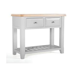 Konzolový stolík z akáciového dreva s 2 zásuvkami VIDA Living Clemence