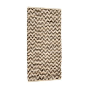 Hnedý koberec z juty a kože Simla, 170 × 130 cm