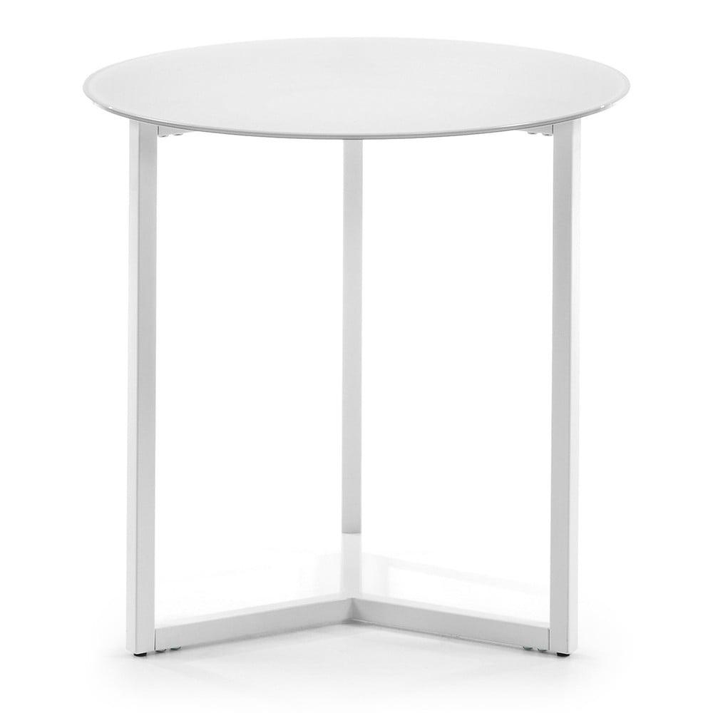Biely odkladací stolík La Forma Marae, ⌀ 50 cm